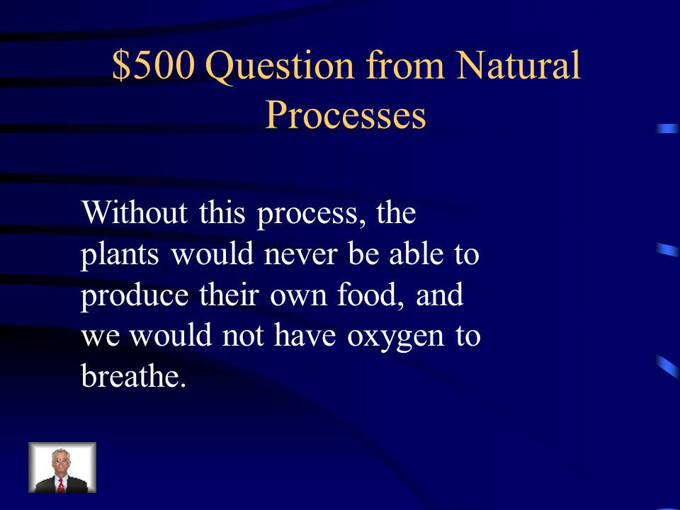 $400 Answer from Natural Processes Glucose