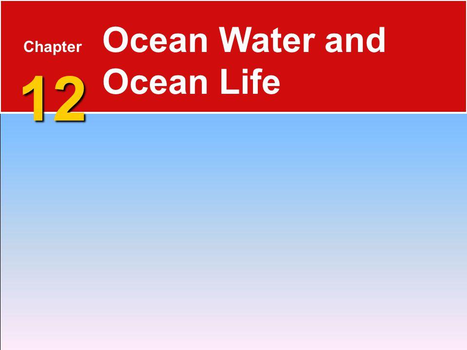 12 Chapter 12 Ocean Water and Ocean Life
