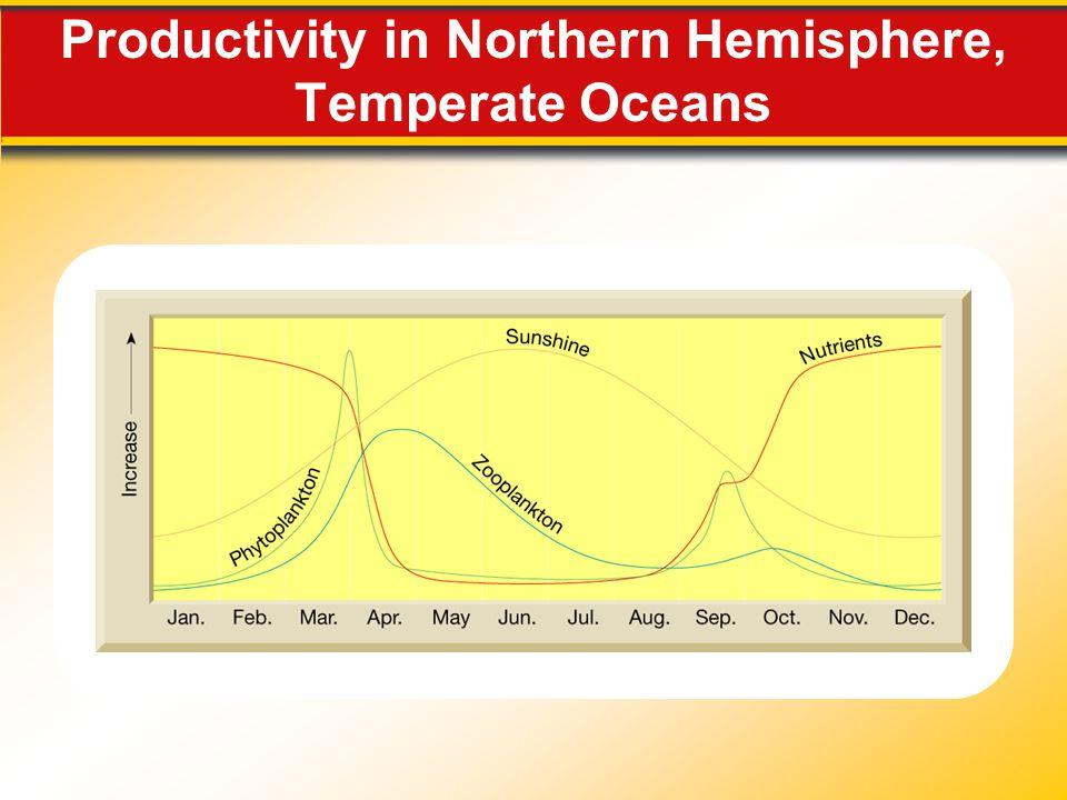 Productivity in Northern Hemisphere, Temperate Oceans