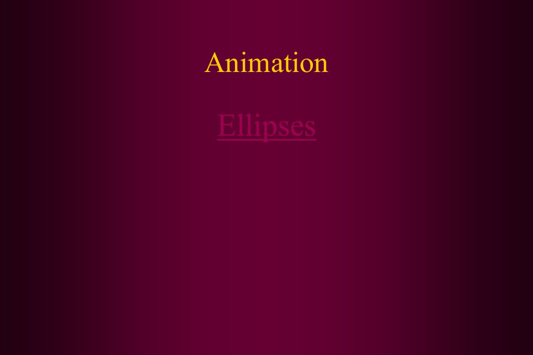 Animation Ellipses