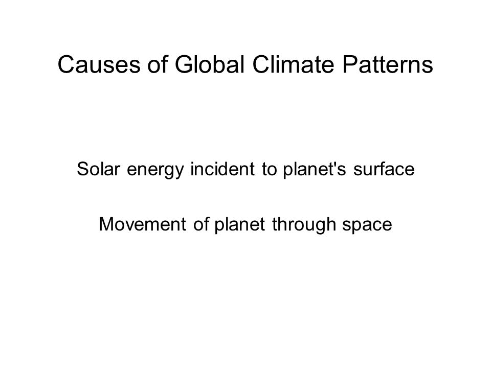 Solar energy incident to planet s surface Movement of planet through space