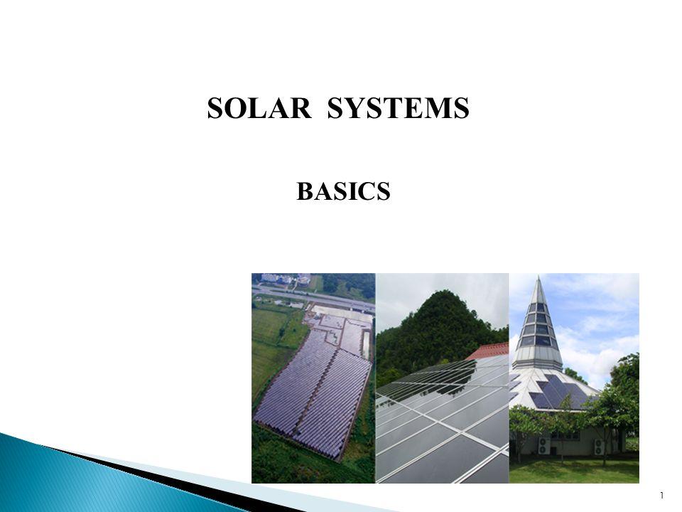 1 SOLAR SYSTEMS BASICS