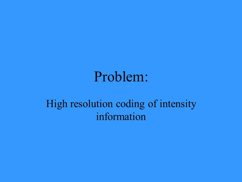 Problem: High resolution coding of intensity information