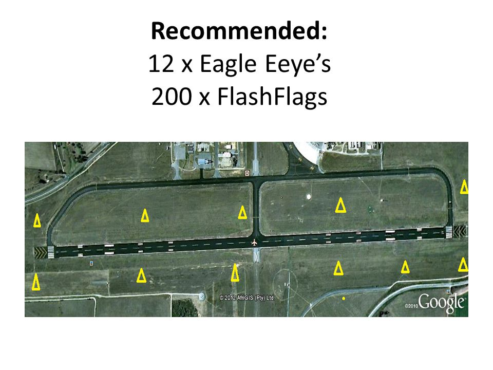 Recommended: 12 x Eagle Eeye's 200 x FlashFlags