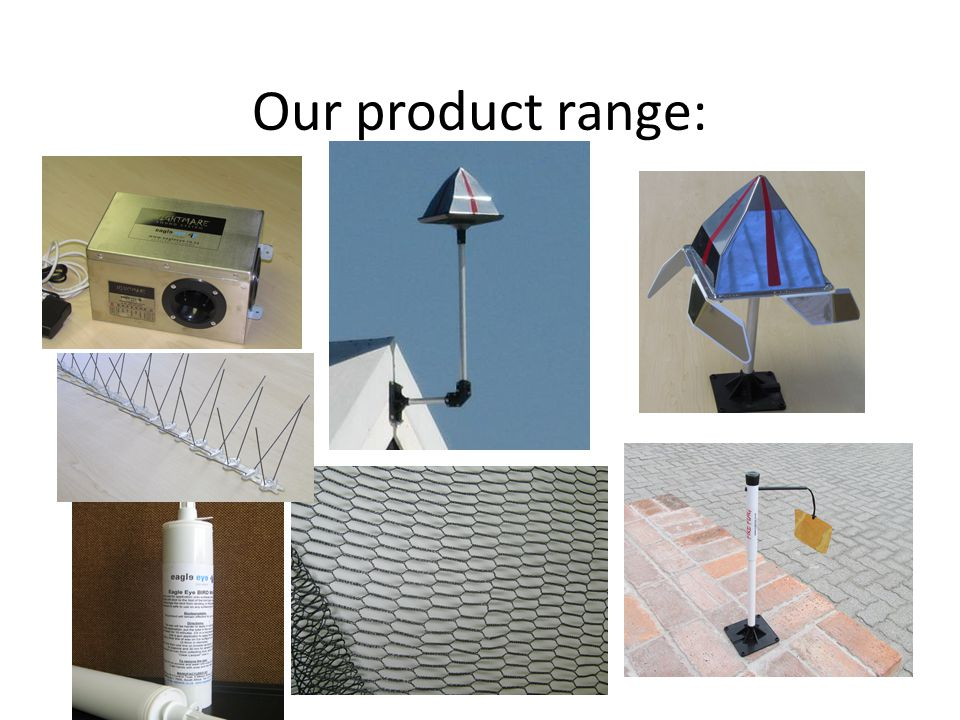 Our product range: