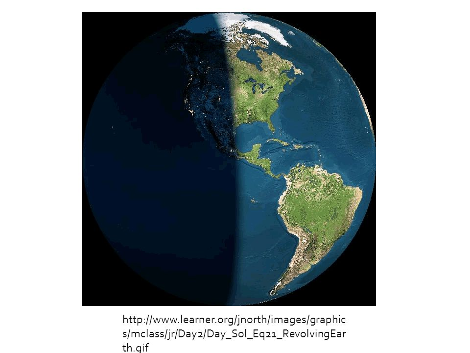  Halfway between the solstices, neither hemisphere is tilted toward or away from the sun.