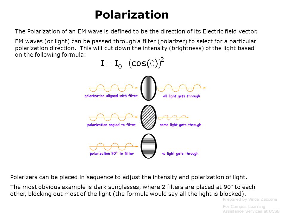 The Polarization of an EM wave is defined to be the direction of its Electric field vector.