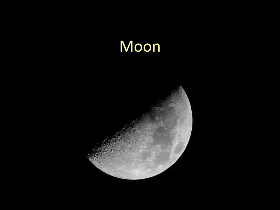 Moon Terminology http://www.astronomy.org/StarWatch/January/1-15-08-moon.jpg Terminator Craters Mare Phases Rotation Revolution Observing Projects: Moon Phases (starts today) Moon Craters (starts next week)