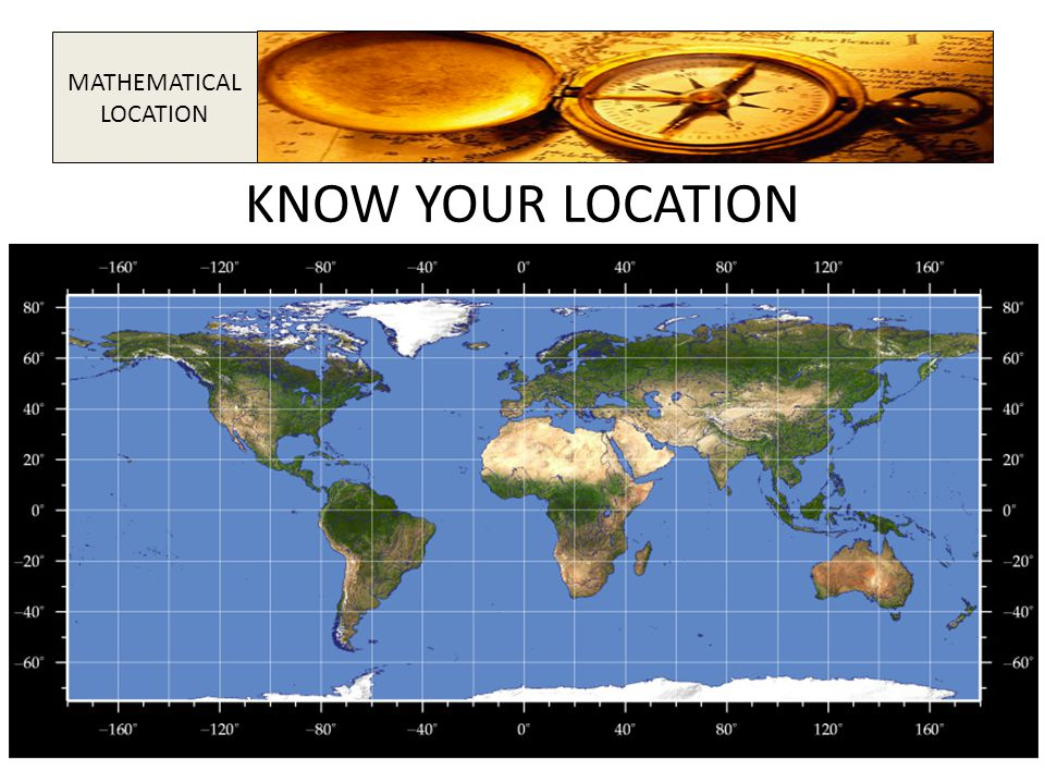 KNOW YOUR LOCATION