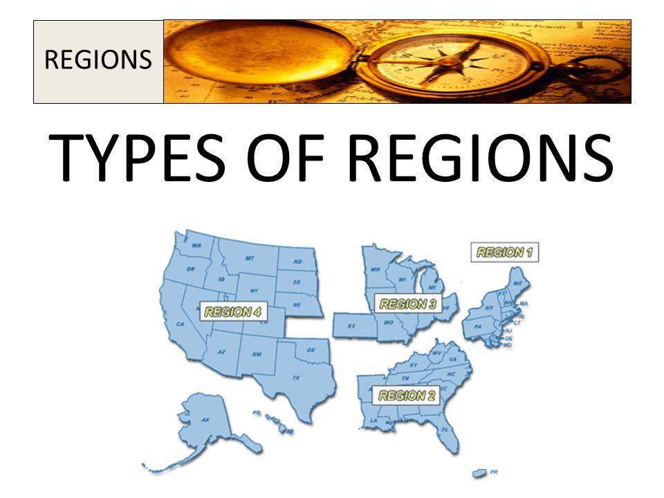 TYPES OF REGIONS REGIONS