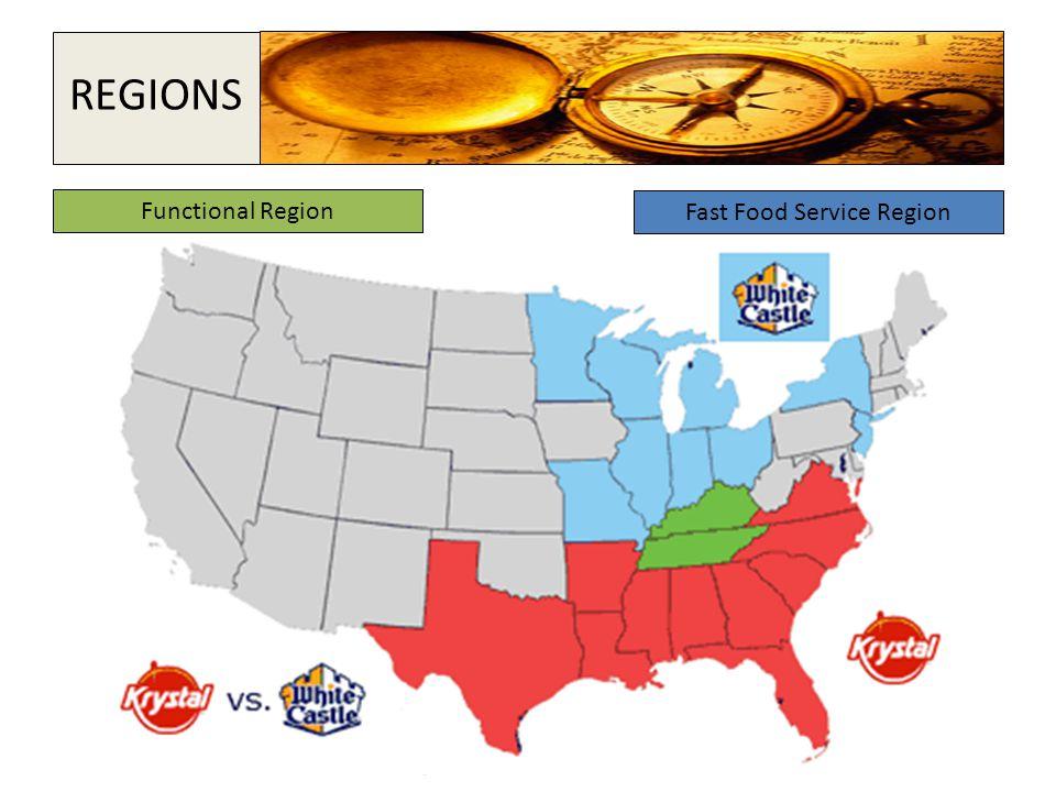 Functional Region Fast Food Service Region REGIONS
