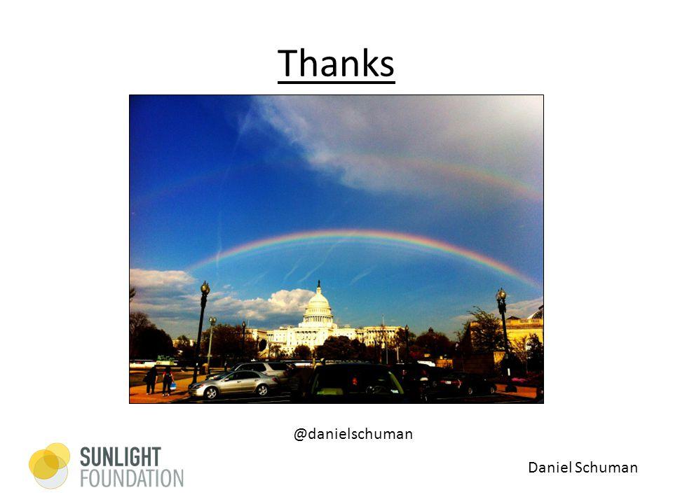 Thanks Daniel Schuman @danielschuman