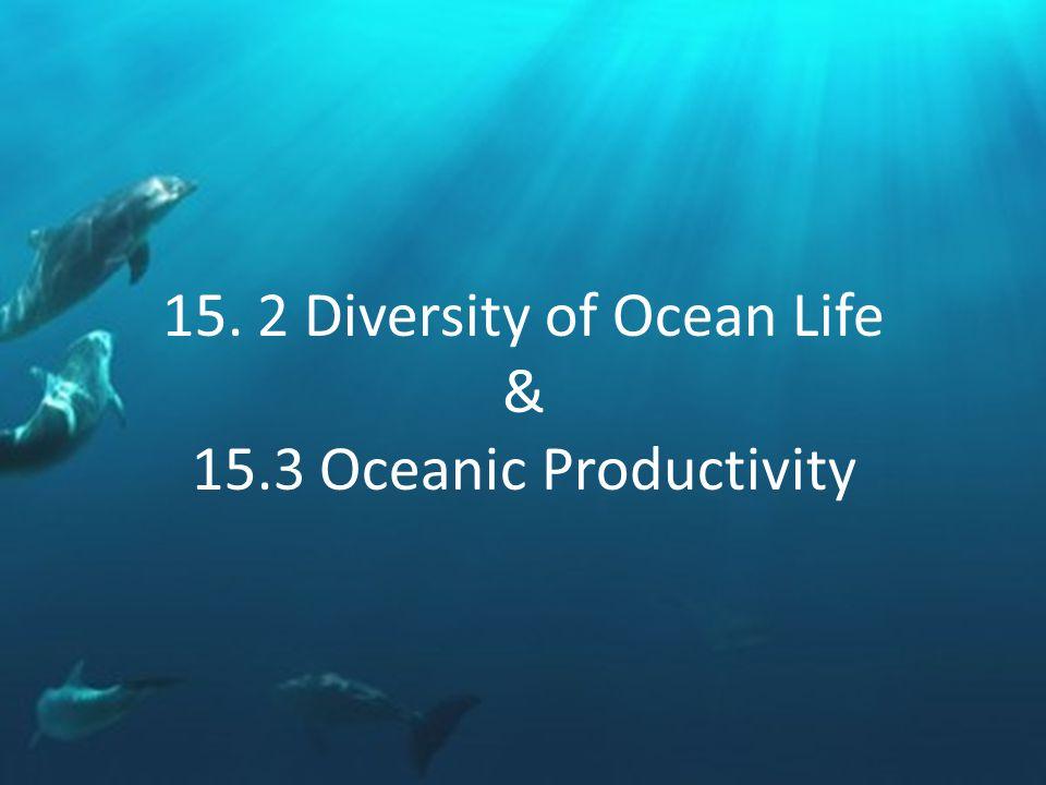 15. 2 Diversity of Ocean Life & 15.3 Oceanic Productivity