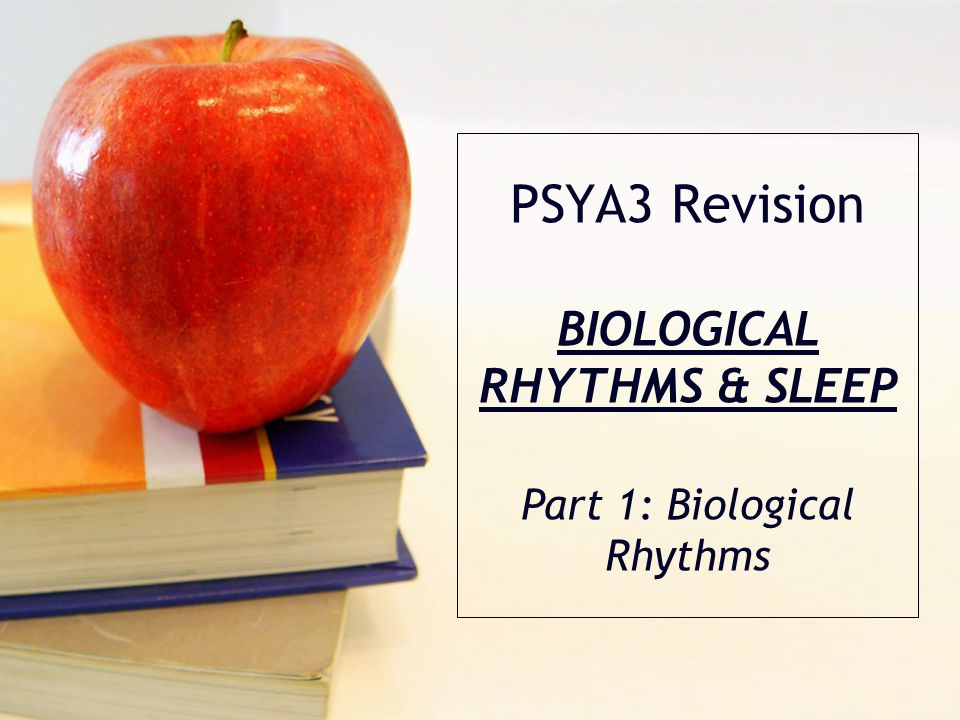 Syllabus Biological Rhythms Circadian, infradian, and ultradian rhthyms, including the role of endogenous pacemakers and of exogenous zeitgebers in the control of circadian rhythms Disruption of biological rhythms, for example shift work, jet lag Sleep The nature of sleep including stages of sleep and lifespan changes in sleep Functions of sleep, including evolutionary and restoration explanations Disorders of Sleep Explanations for sleep disorders, including insomnia, sleep walking and narcolepsy