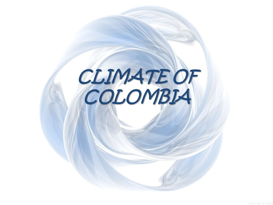 Climate of Colombia The Climate of Colombia The Climate of Colombia is characterized for being tropical and isothermal as a result of its geographical location near the Equator presenting variations within five natural regions and depending on the altitude, temperature, humidity, winds and rainfall.