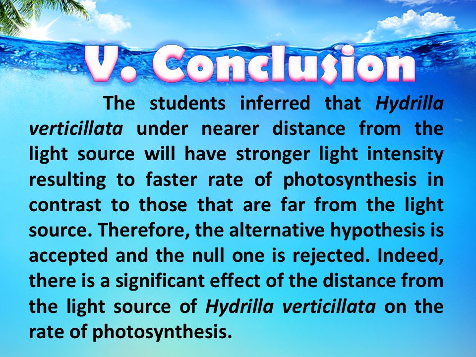 According to Manaker(1981), an increase in the intensity of light will result to an increase in the rate of photosynthesis and will likewise reduce th