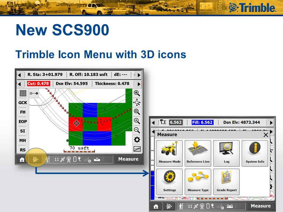 New SCS900 Trimble Icon Menu with 3D icons