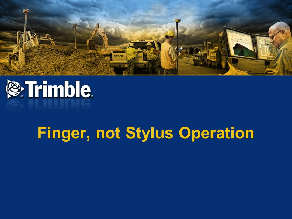 Finger, not Stylus Operation