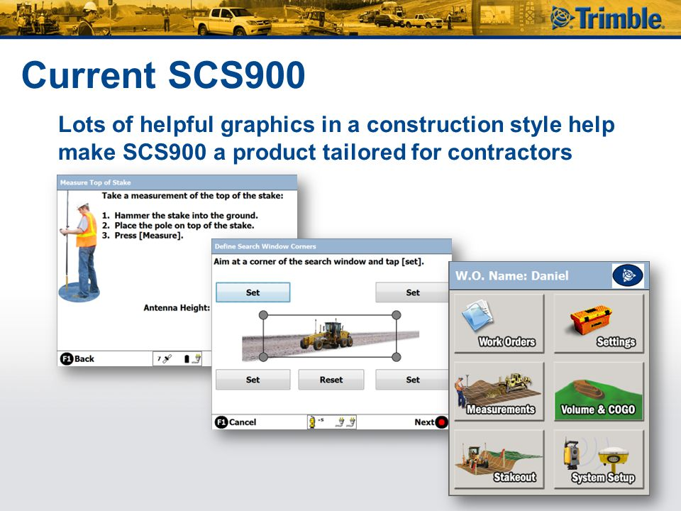 Current SCS900 Lots of helpful graphics in a construction style help make SCS900 a product tailored for contractors