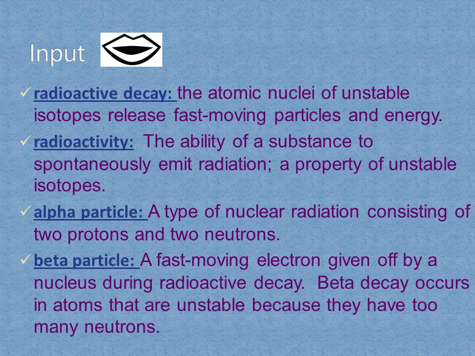 gamma radiation: high-energy waves, similar to X- rays.