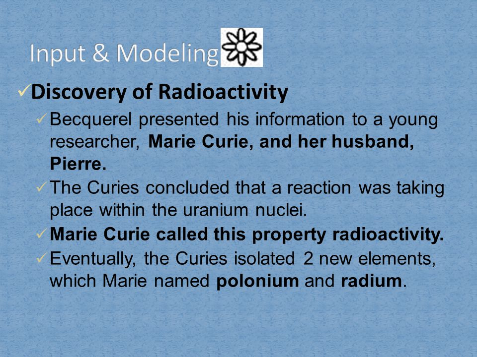 Types of Radioactive Decay Radioactive decay can produce alpha particles, beta particles, and gamma rays.