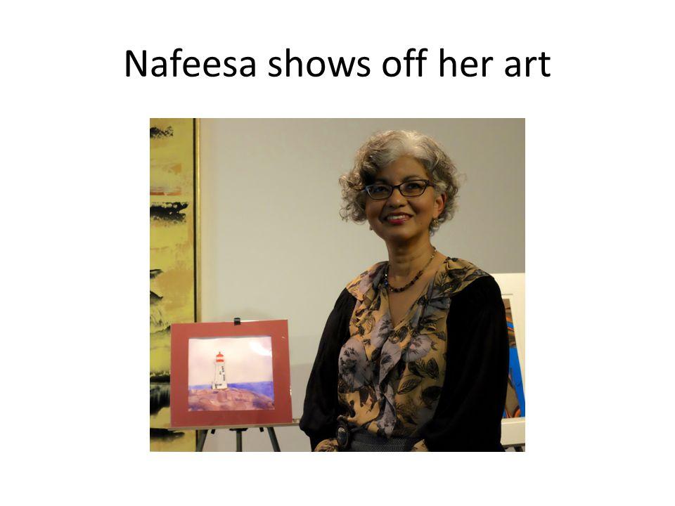 Nafeesa shows off her art