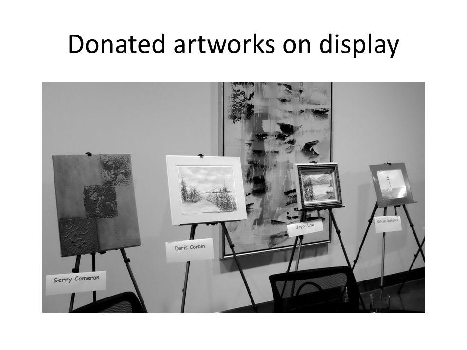 Doris shows off her art