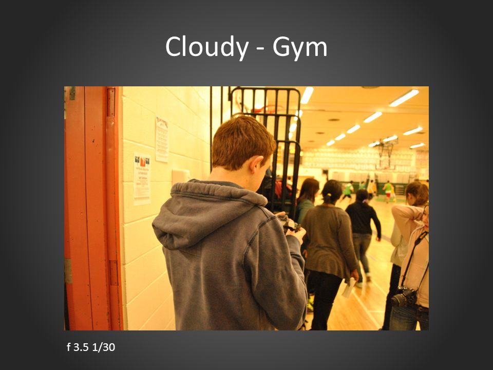 Cloudy - Gym f 3.5 1/30