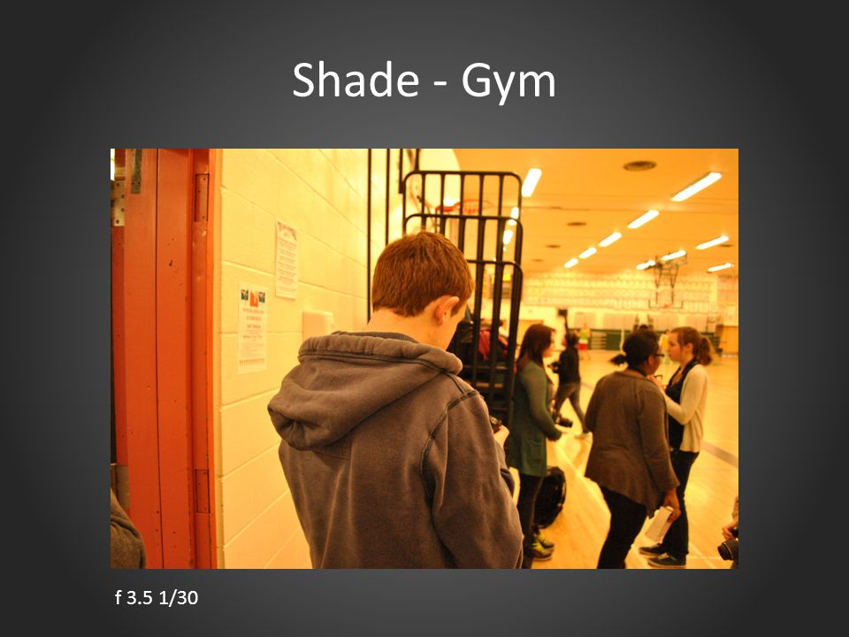 Shade - Gym f 3.5 1/30