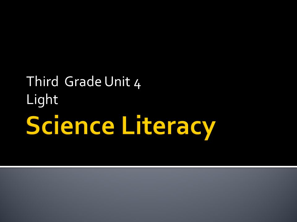Third Grade Unit 4 Light