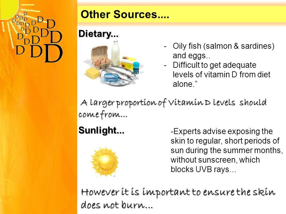 Dietary... -Oily fish (salmon & sardines) and eggs..