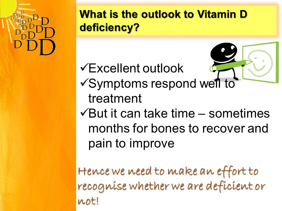What is the outlook to Vitamin D deficiency.