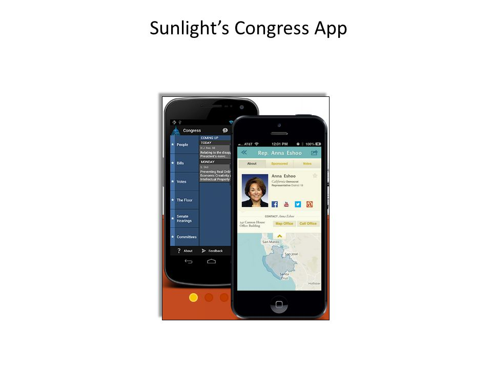Sunlight's Congress App