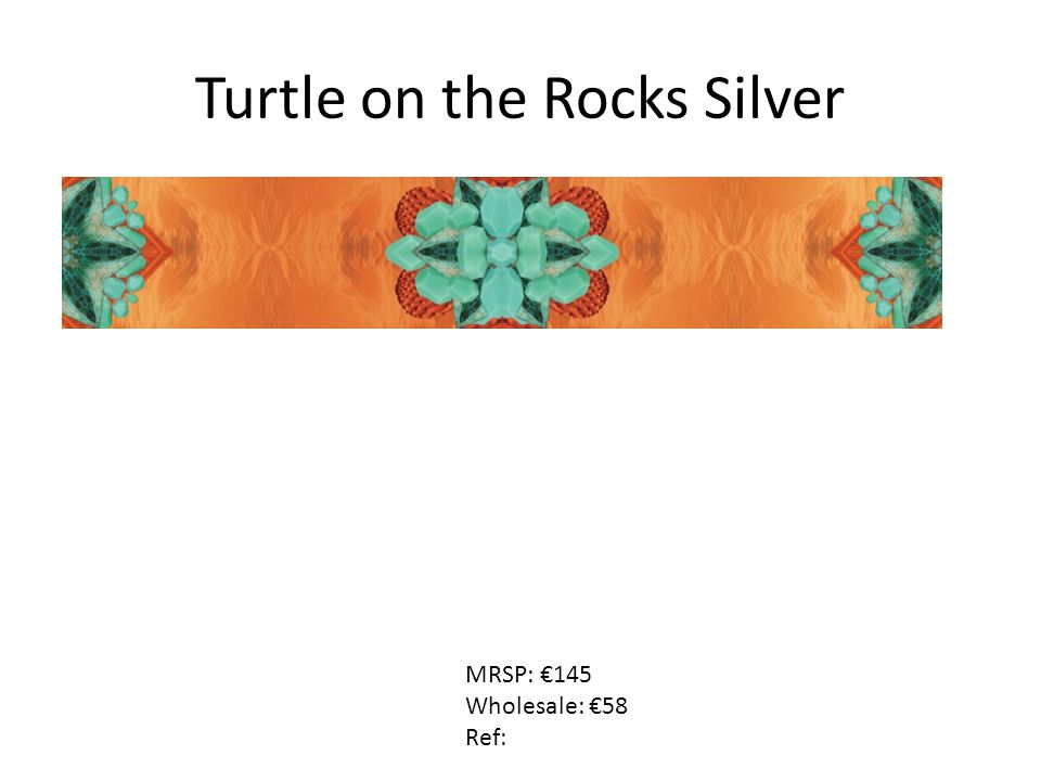 Turtle on the Rocks Silver MRSP: €145 Wholesale: €58 Ref: