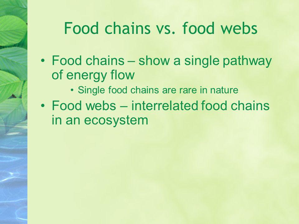 Food chains vs.