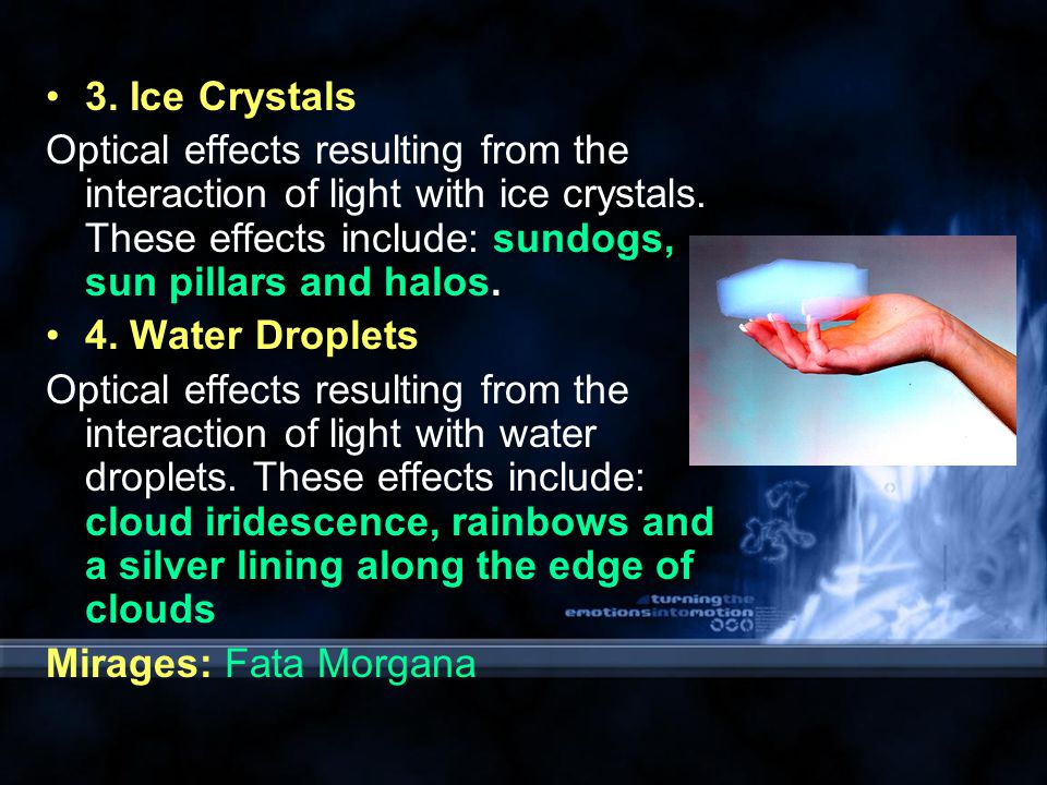 1.Ray Optics The Law of Reflection Examples: sun glint - reflection of the solar disk off water.