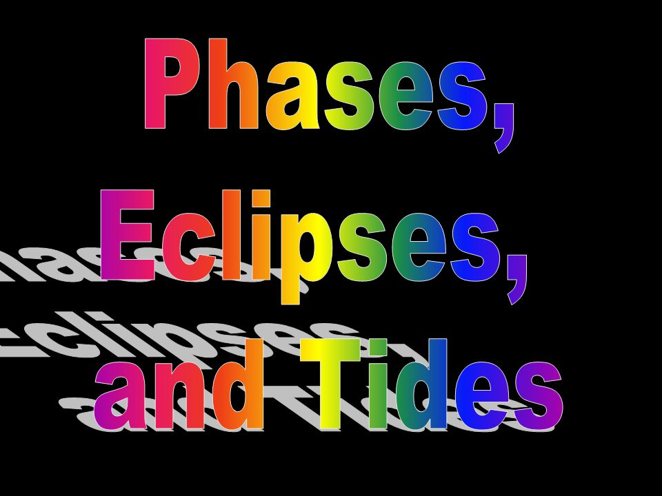Notice how phases of the moon affect tides.