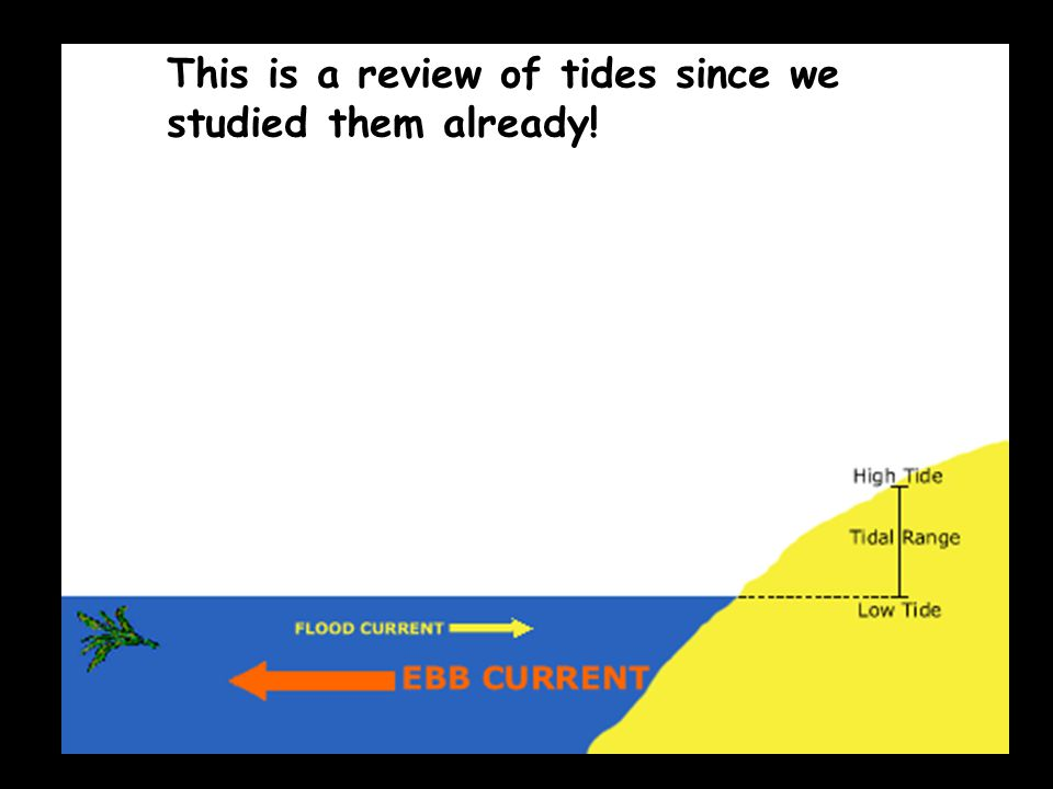 This is a review of tides since we studied them already!