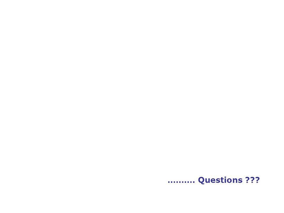 ………. Questions ???