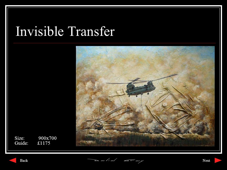 Invisible Transfer Size: 900x700 Guide:£1175 NextBack