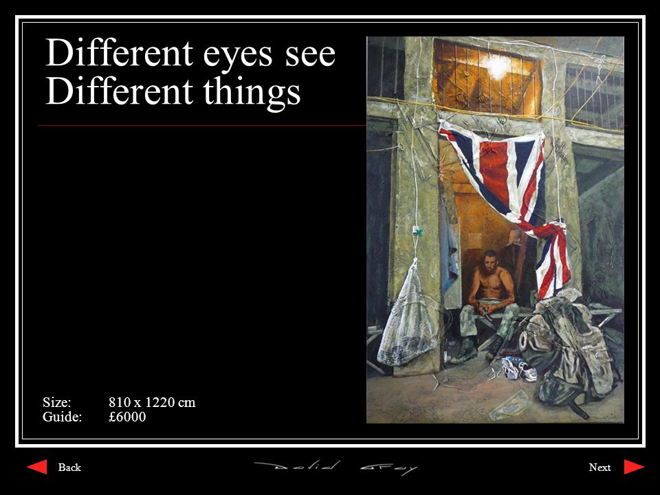 Different eyes see Different things Size:810 x 1220 cm Guide:£6000 NextBack