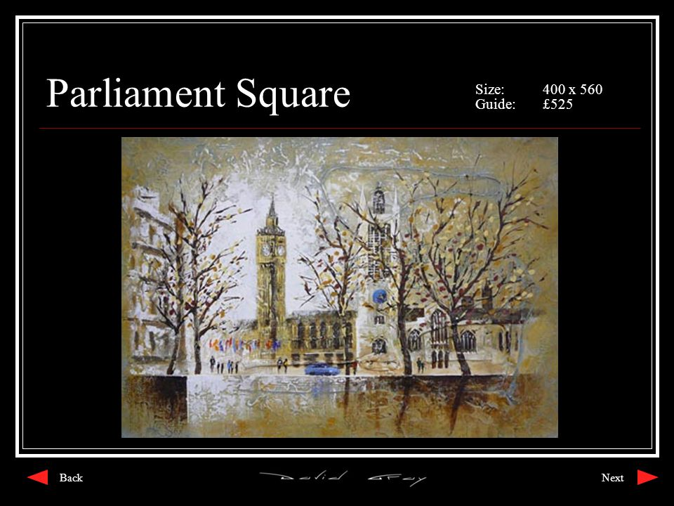 Parliament Square Size:400 x 560 Guide:£525 NextBack