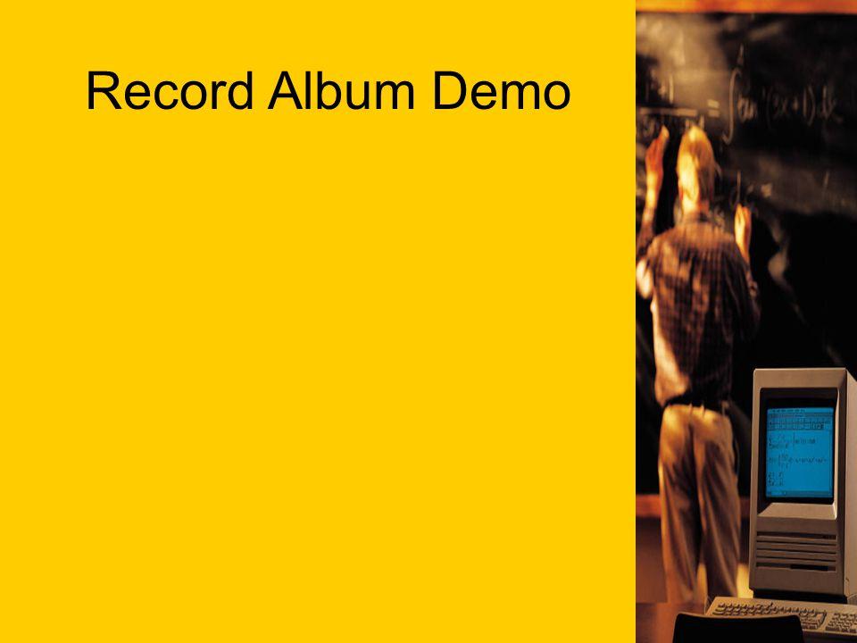 Record Album Demo