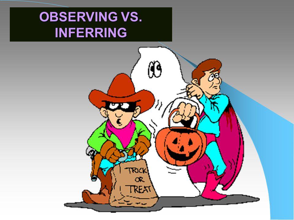 OBSERVING VS. INFERRING