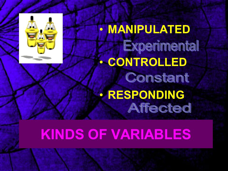 KINDS OF VARIABLES MANIPULATED CONTROLLED RESPONDING