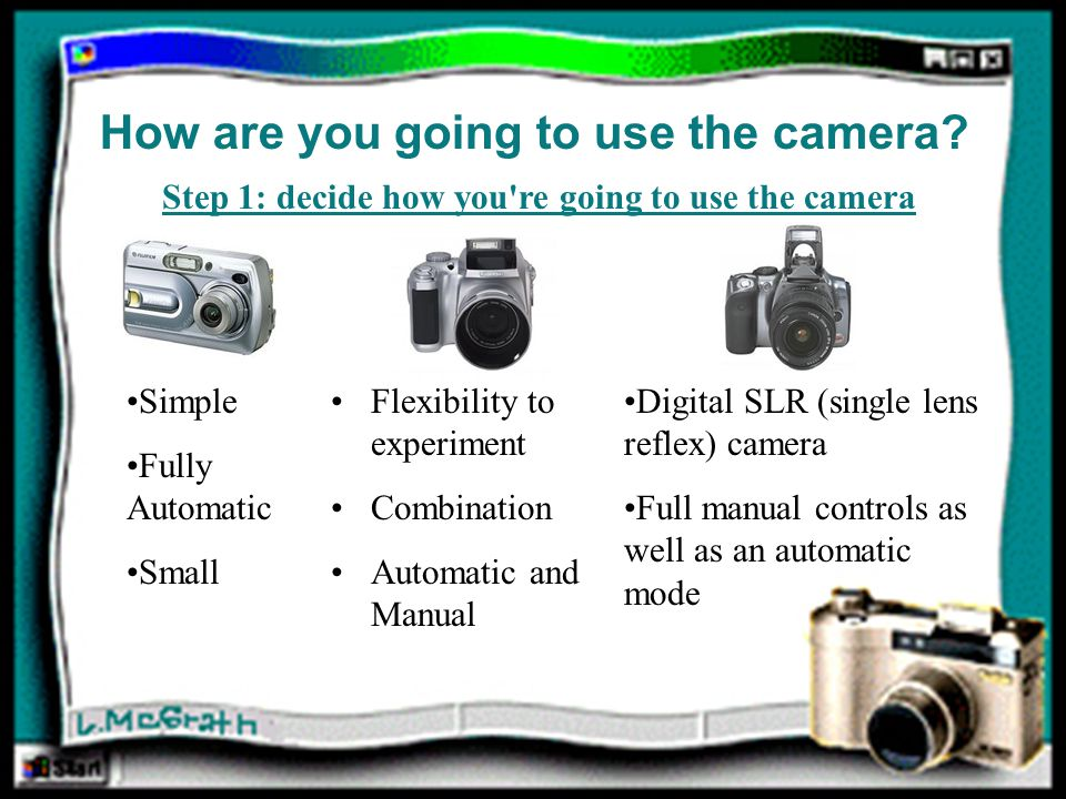 Why Use a Digital Camera.Instant gratification. No more waiting for film to be developed.