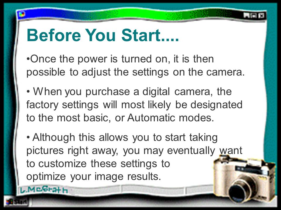 Before you Start… Before You Start....