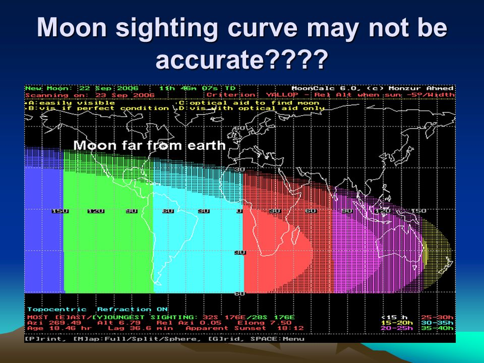Moon sighting curve may not be accurate