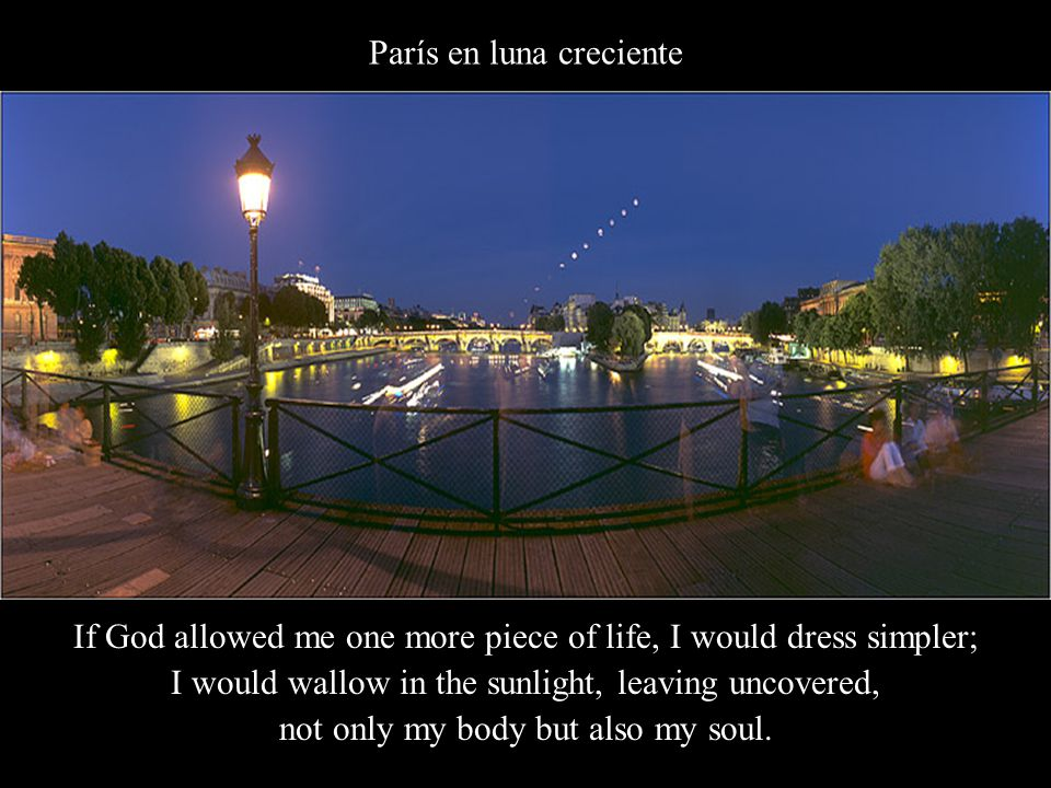 Fuente Medicinal, Jardín de Luxemburgo I would continue where others have stopped, and I would rise when others sleep.