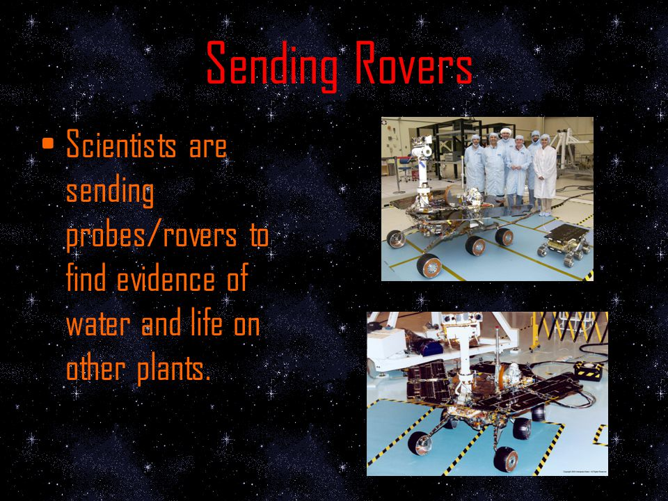 Nasa In 2003 Nasa was starting to develop a series of missions to bring samples from Mars & Probes sent to Mars.